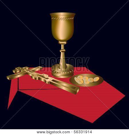 the sacrament -vector illustration