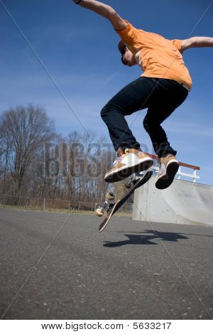 Skateboarder Jumping