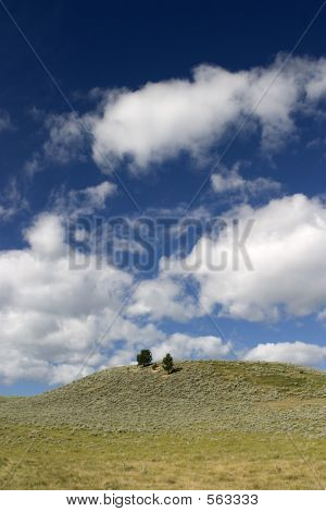 Clouds Above Boot Hill Cemetery, Montana.