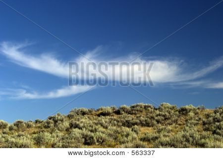 White Fluffy Clouds Over Big Sky Country, Montana.