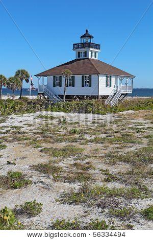 Port Boca Grande Leuchtturm auf Gasparilla Island (Florida) vertikal