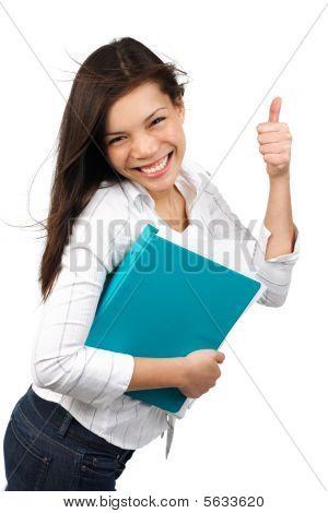 glücklich student