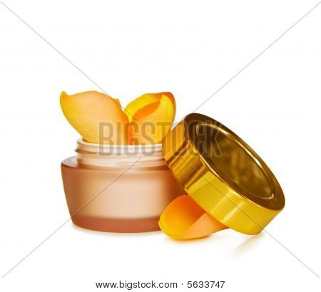 Natural skin care - face cream with roses