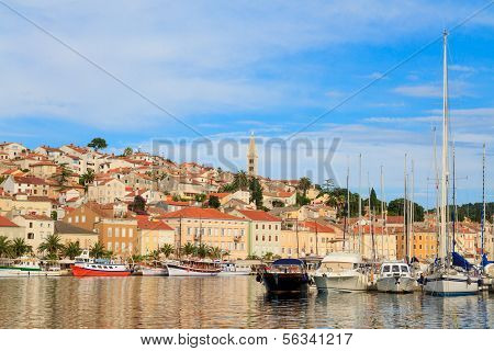Mali Losinj Waterfront And Harbor, Island Of Losinj, Dalmatia, Croatia
