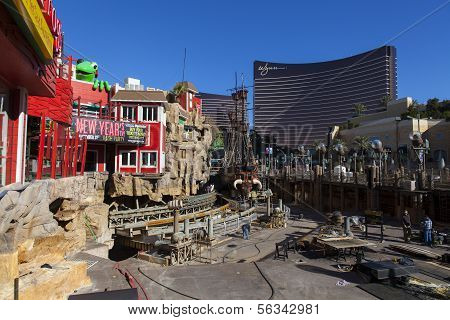 Treaure Island Construction In Las Vegas, December 10, 2013.