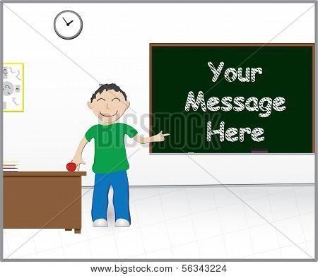 School Message Chalkboard