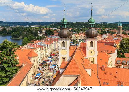 Telc, View On Old Town (a Unesco World Heritage Site), Czech Republic