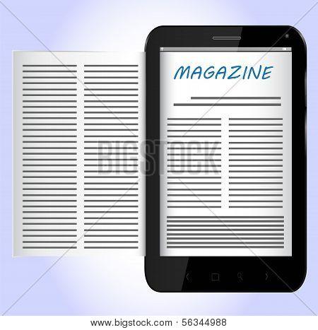 Magazin für schwarz Smartphone