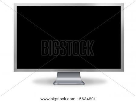 Tela de computador em branco.
