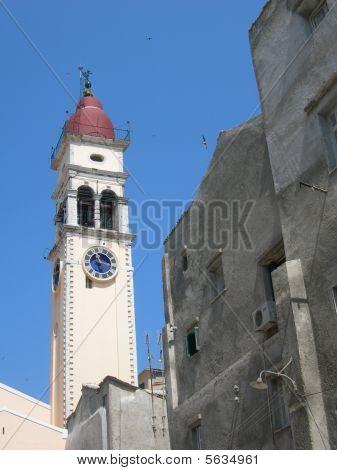 Church Of St. Spiridon At Corfu