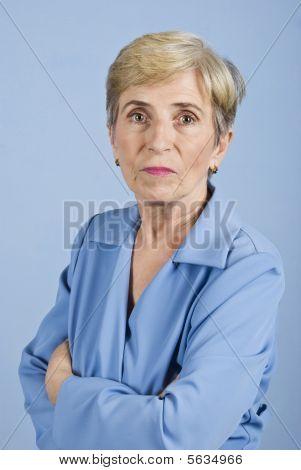 Serious Senior Business Woman