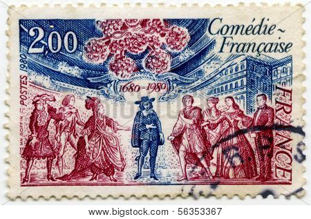 Stamp from France Comedy