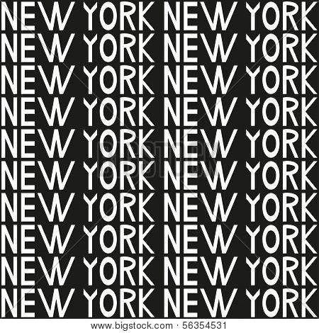 New York Typography Seamless Background Pattern. Vector Illustration