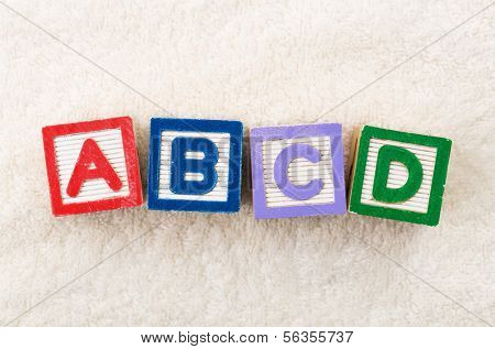 ABCD toy block