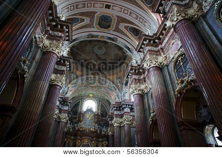 interior of Baroque Collegiate Church