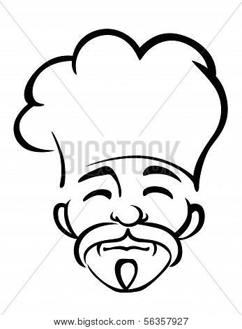 Old Japanese Chef With A Goatee And Moustache