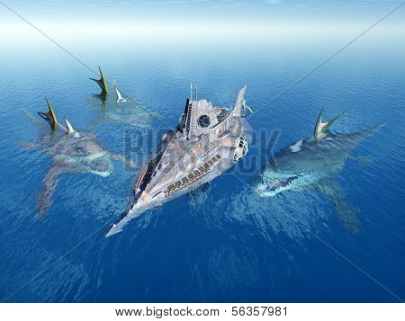 Sea Monsters and Submarine