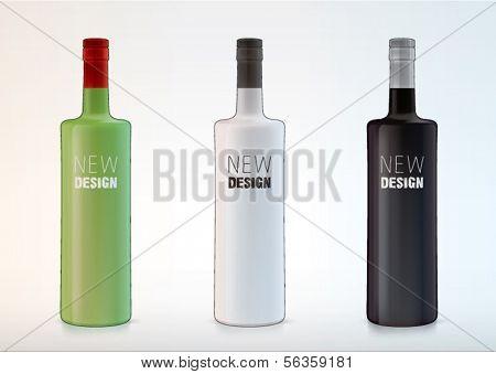 vector blank bottles for new design liquor or vodka