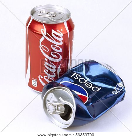 Coca-cola And Pepsi Cans