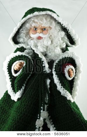 Santa Claus In A Green Coat