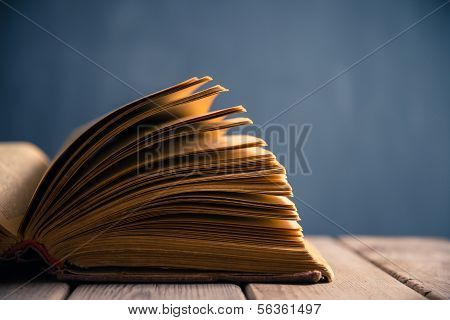 Open book, close-up