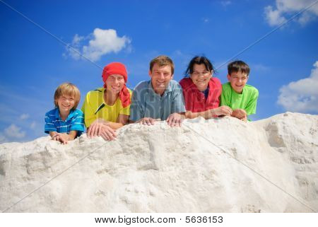 Family on summer vacations