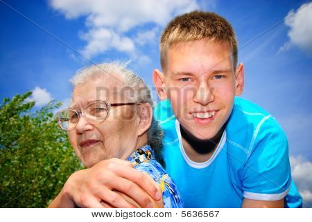 Grandson and grandma
