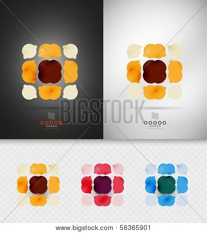 Geometric abstract shape - business symbol for business, technology, presentation, template
