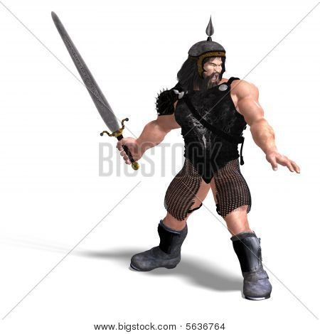 Strong Dwarf With Sword