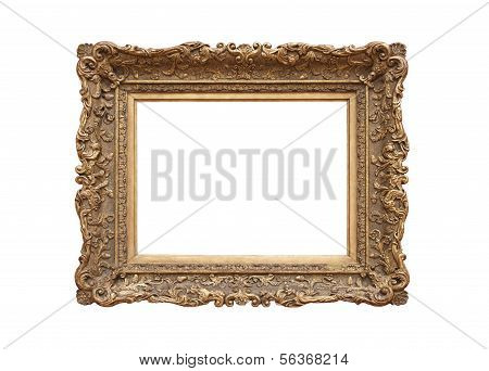 Medieval picture frame, isolated