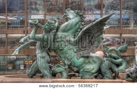 Fountain Mendebrunnen in Leipzig,Germany