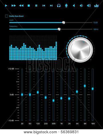 Elementos de web música abstrata