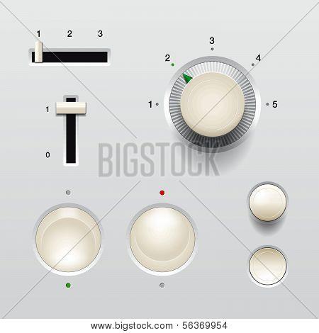 Conjunto de botões de opção web