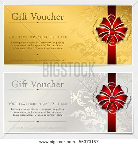 Gold and silver gift voucher