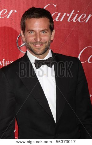 PALM SPRINGS - JAN 4:  Bradley Cooper at the Palm Springs Film Festival Gala at Palm Springs Convention Center on January 4, 2014 in Palm Springs, CA