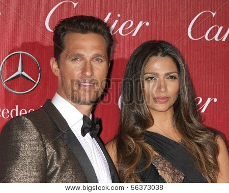 PALM SPRINGS - JAN 4:  Matthew McConaughey, Camila Alves McConaughey at the Palm Springs Film Festival Gala at Palm Springs Convention Center on January 4, 2014 in Palm Springs, CA