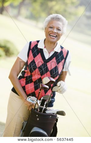 Portrait Of A Female Golfer