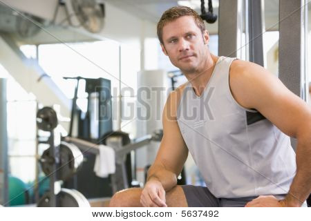 Portrait Of Man At Gym