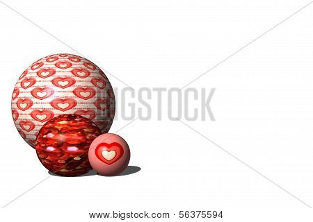 Three Valentine Marbles
