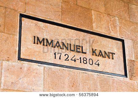 Tomb Of Immanuel Kant. Kaliningrad (until 1946 Koenigsberg), Russia