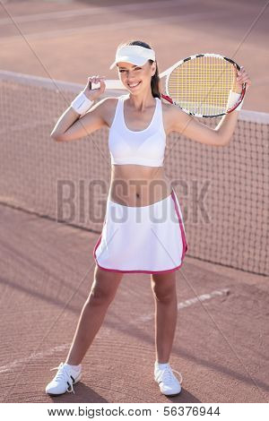 Smiling Professional Tennis Player
