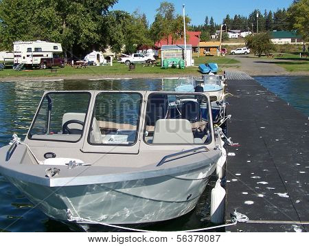 Boating and camping scenic