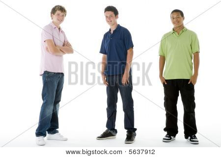 Full Length Portrait Of Teenage Boys
