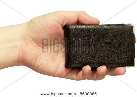 Business Card Holder (clipping Path Isolated)