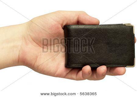 Titular de cartão de visita (isolado de caminho de recorte)