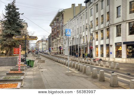 Street Is In City Moscow