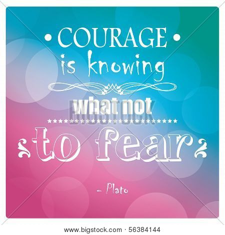 Quote, inspiration message, typographic, Plato, vector illustration