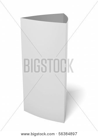 Blank paper triangle card