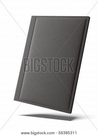 Black leather folder