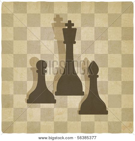 sport chess logo old background